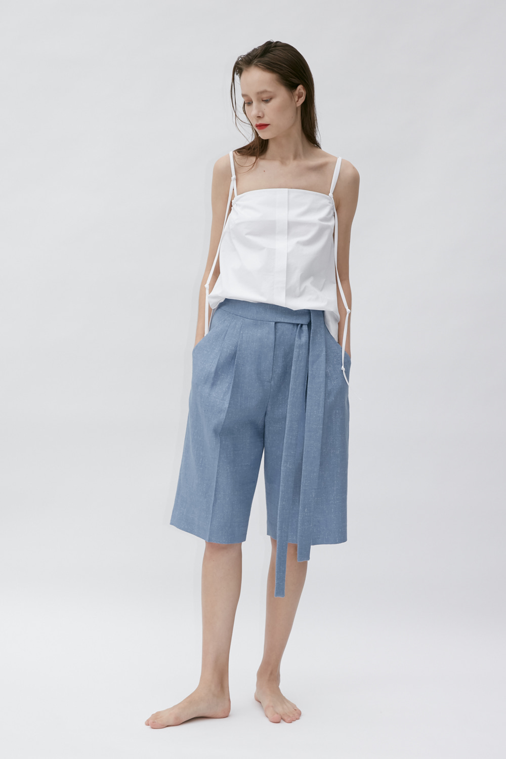 Pants Wide Half Blue