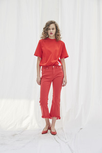 Destroyed Color Denim Red / Singer JangJane