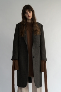 SOLD OUT *** [.unit ] Harringbone Wool Trench Coat / Gray