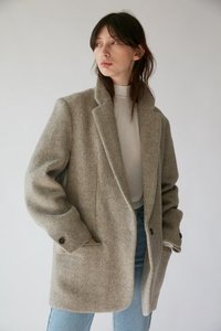 unit | Jacket Harringbone Wool Oat Meal
