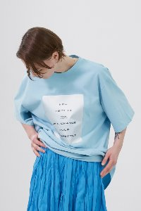Tshirts Uni Pearl Square Azure Blue (Men & Women)