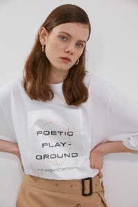 Tshirts Uni Pearl Square Pure White (Men & Women)