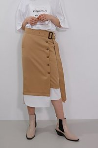 SOLD OUT *** Skirt Button Down London Beige