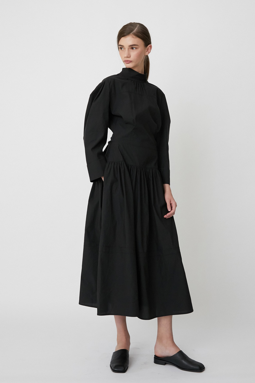 Dress Button Back Black