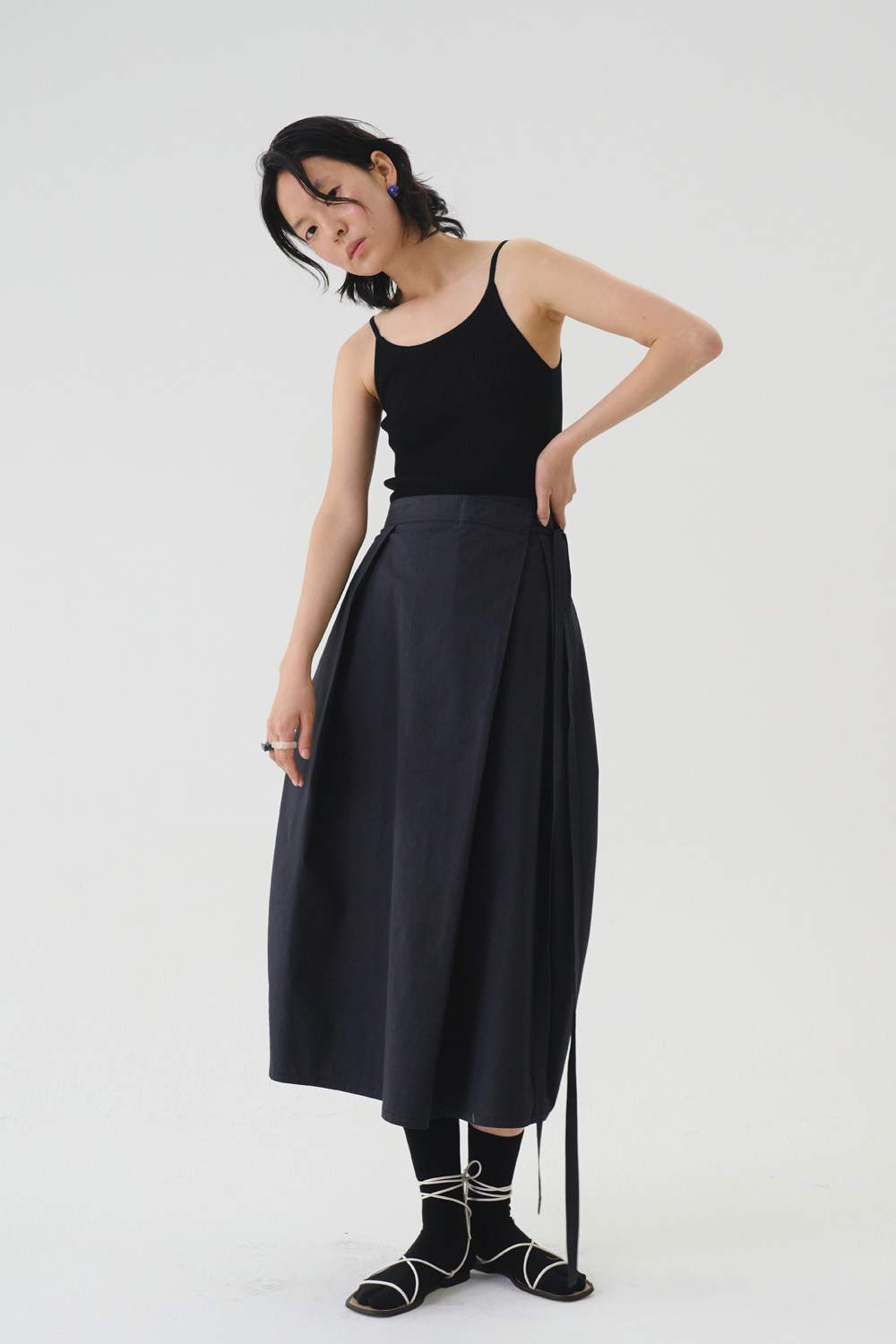 SOLD OUT *** Skirt Eband Strap Black