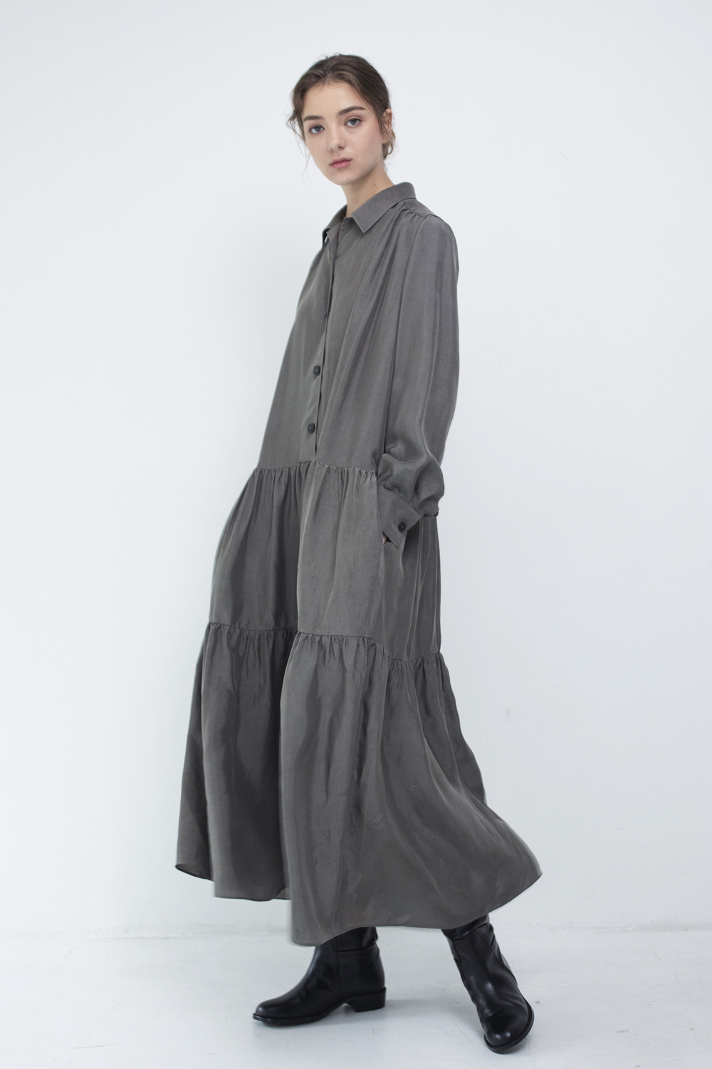 Dress P Shirring London Fog