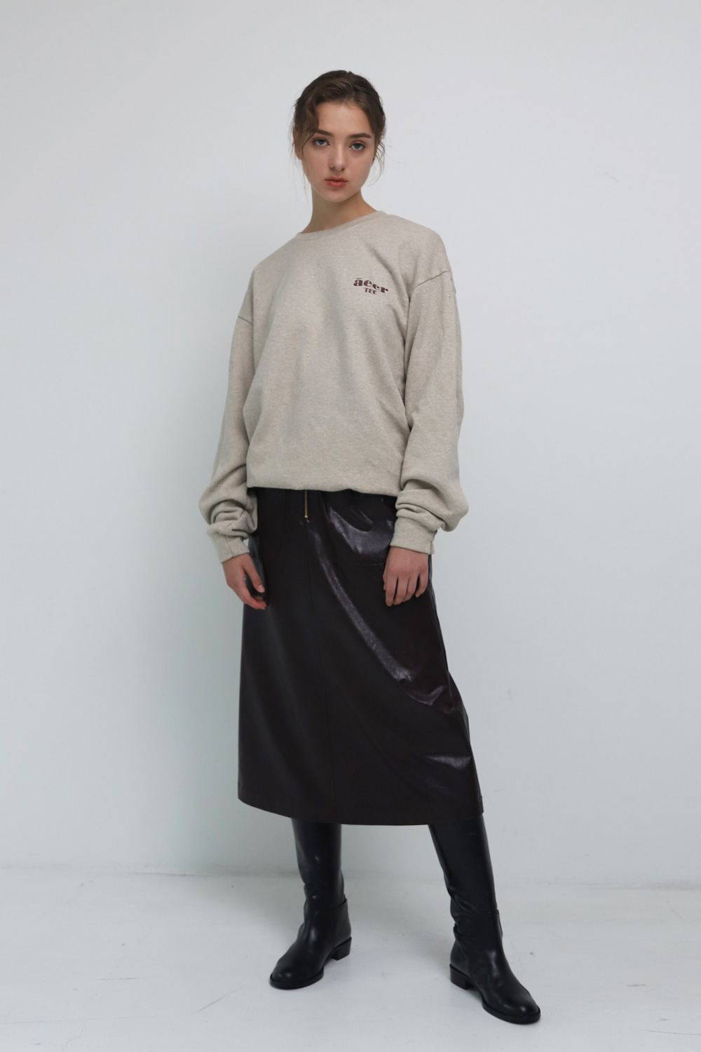 Skirt Soft Eco Leather Rich Brown