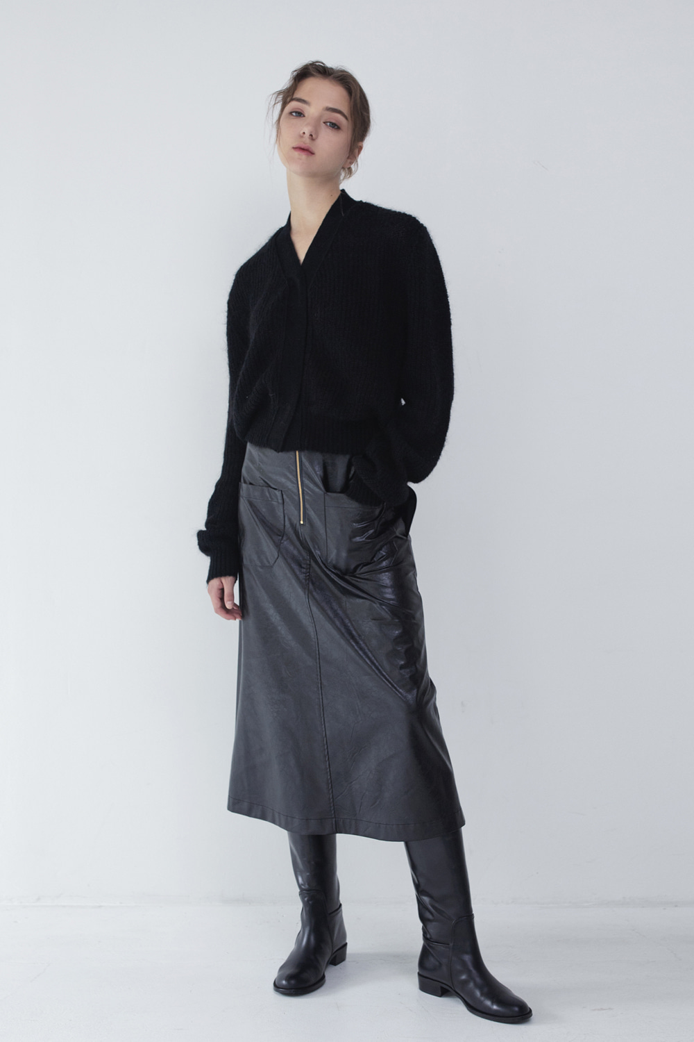 Skirt Soft Eco Leather Nocturnal Black