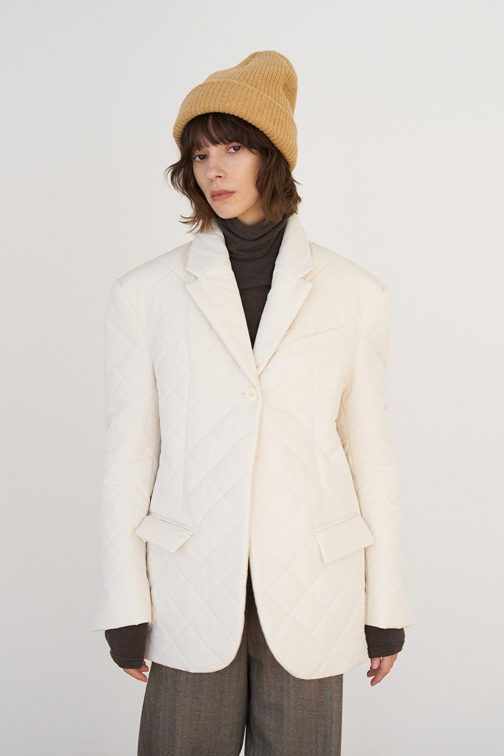 unit | Jacket Padding Single Cream Ivory