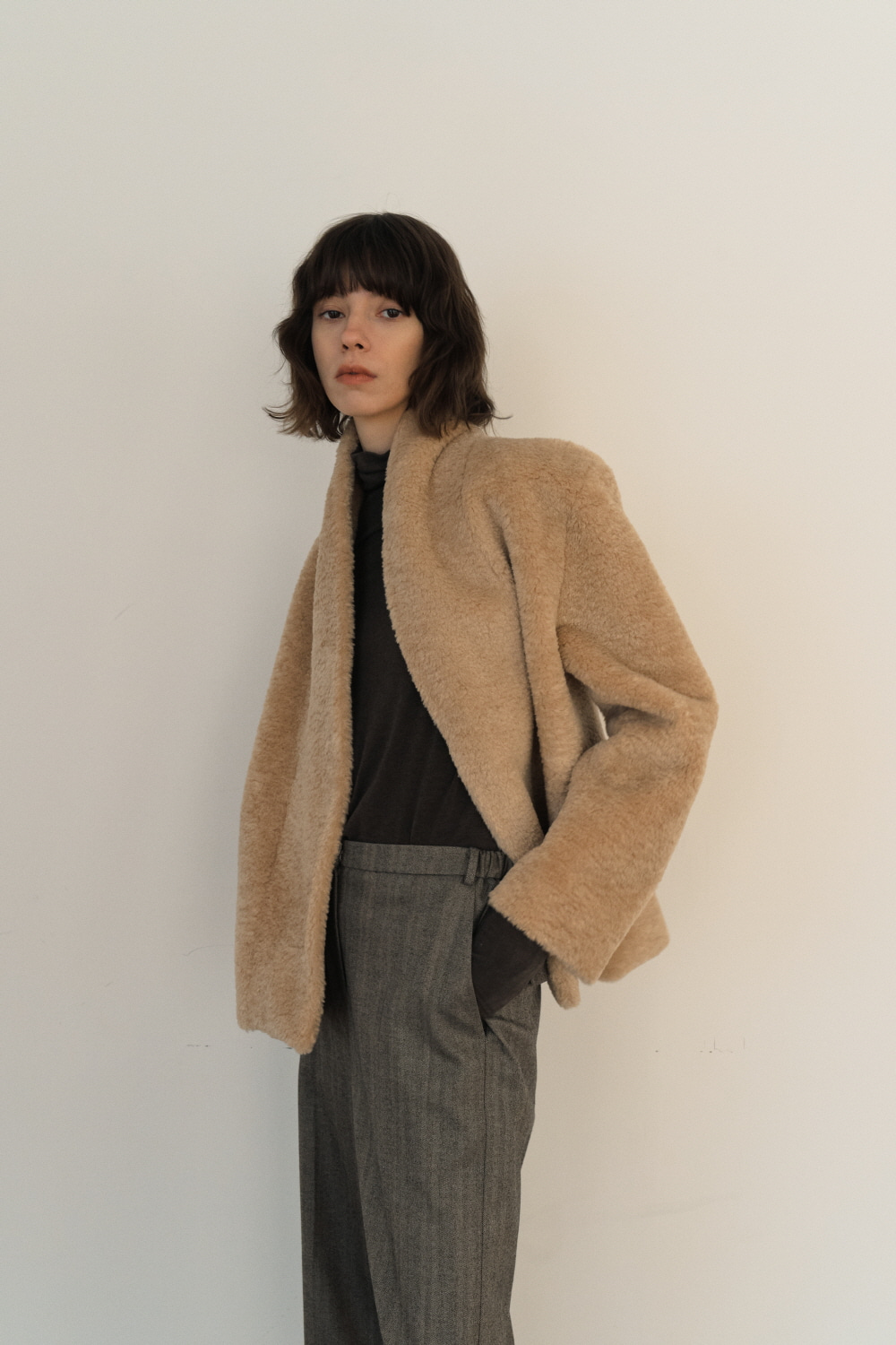 Jacket Reversible Shearing Beige