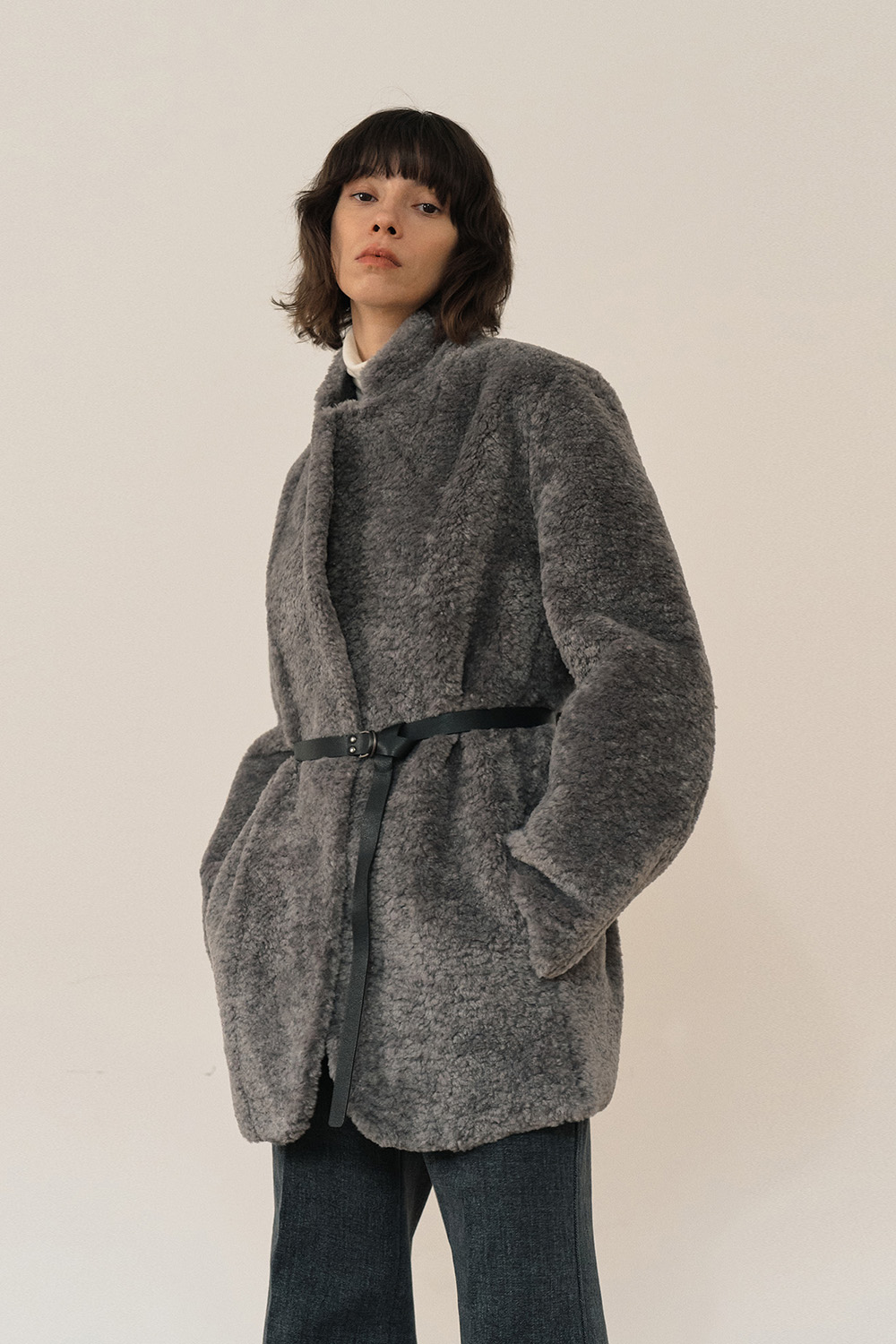 Jacket Reversible Shearing Gray